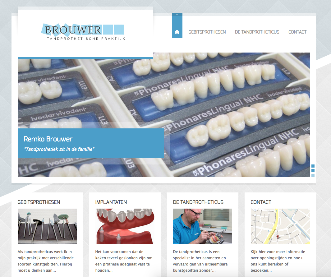 Website Brouwer Tandprothetiek