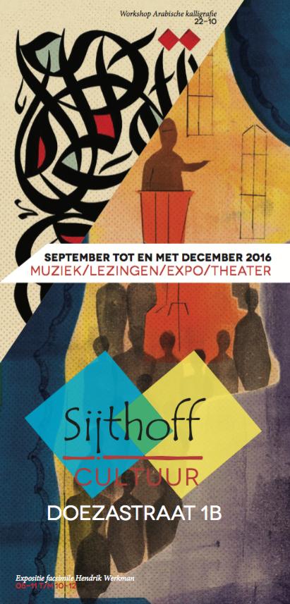 Sijthoff Cultuur Leiden kwartaalfolder