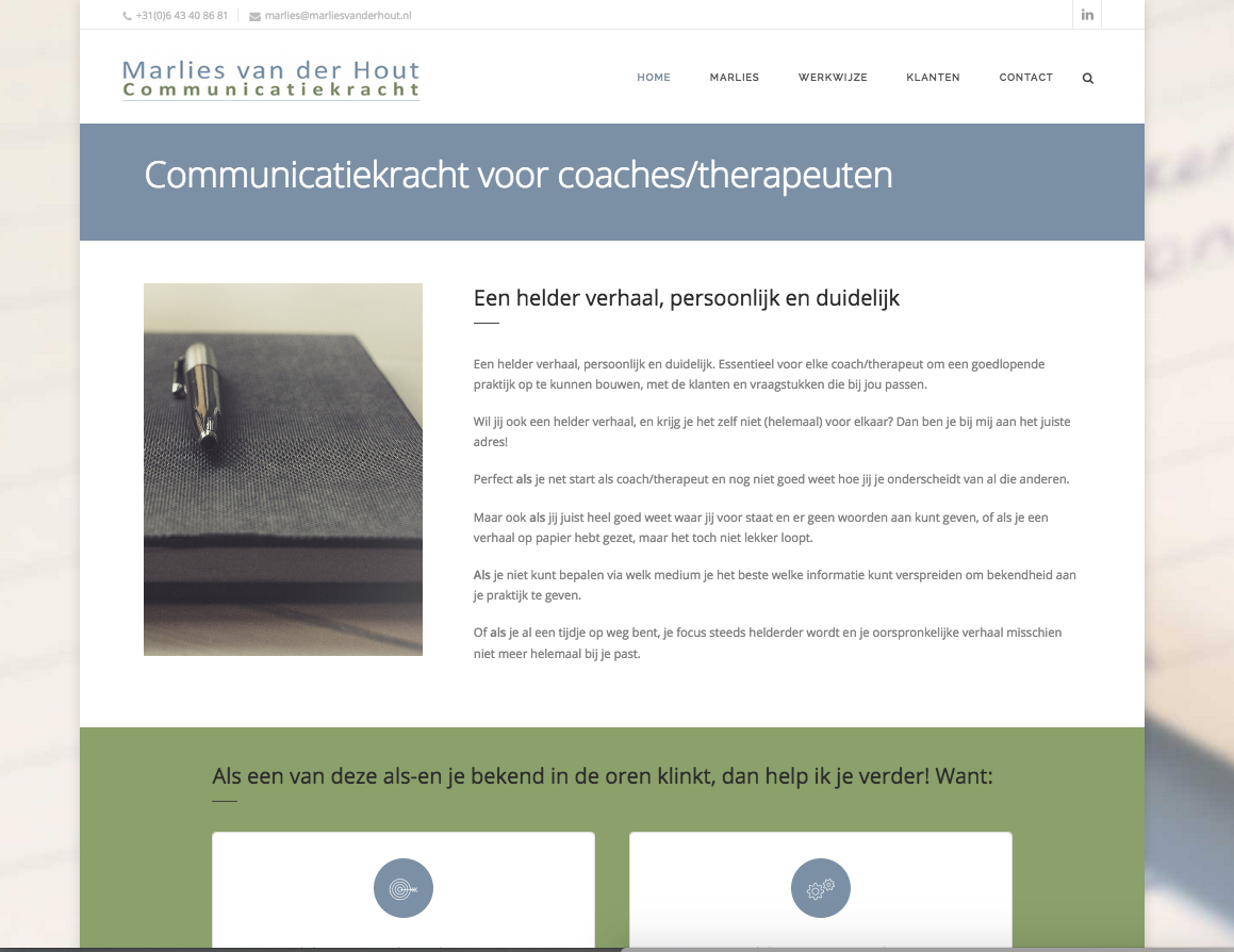 Marlies van der Hout communicatiekracht voor coaches en therapeuten