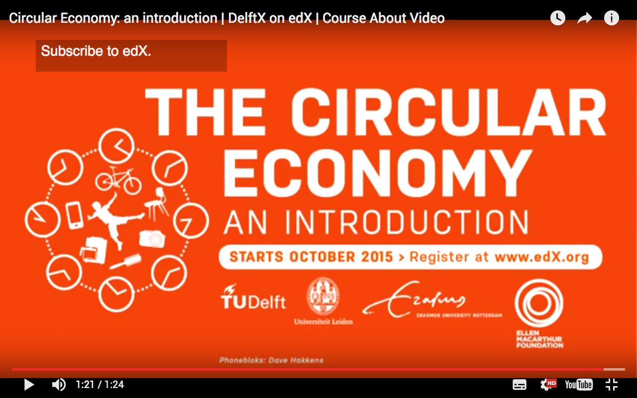 Circular Economy; an introduction, edx mooc