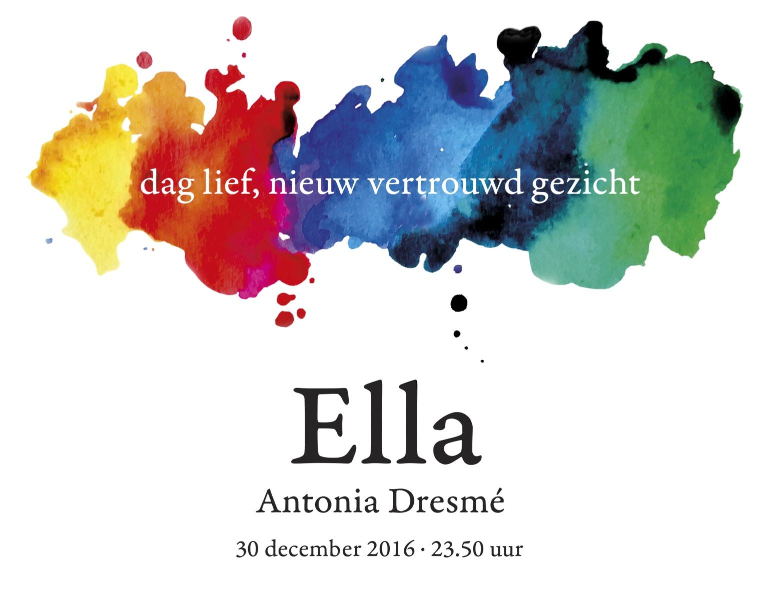 geboortekaartje Ella Dresmé