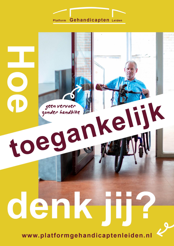 Poster campagne voor Platform Gehandicapten Leiden